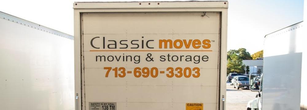 Backside of Classic Moves fleet van